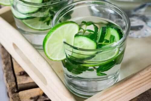 Águas detox: 2 benefícios e mitos