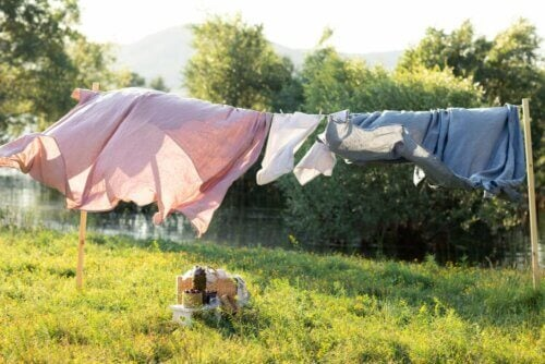 Roupas secando ao ar livre