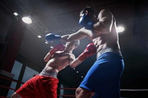 Saco de pancadas para praticar boxe