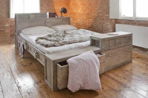 Tipos de cama com gavetas