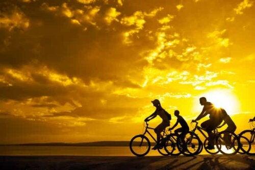 Ciclismo na praia