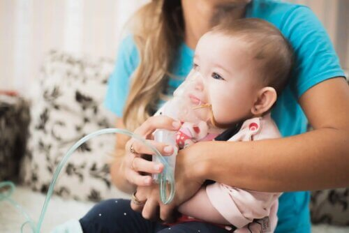 Nebulização em bebês