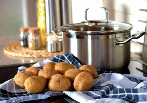 Batatas cozidas