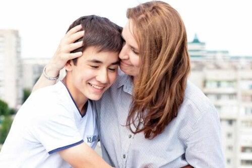 Mãe e filho unidos