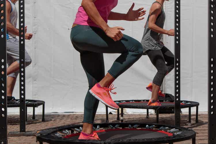 Aula de Jumping fitness