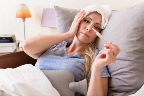 Mulher com febre
