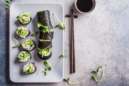 2 receitas de sushi vegano
