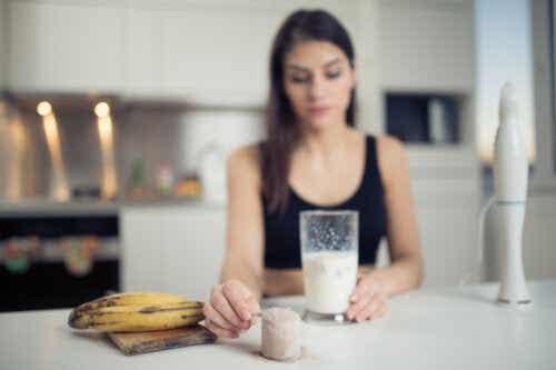 Shakes de proteína para aumentar a massa muscular
