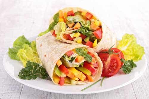 4 wraps vegetarianos deliciosos